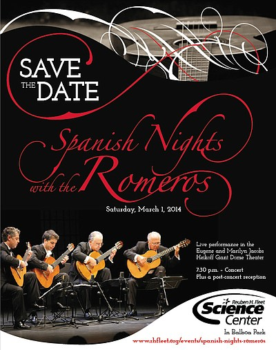 Promotional flyer for Spanish Nights With The Romeros at ...