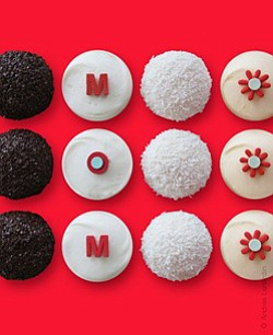 Promotional graphic of Sprinkles Cupcakes The MOM Box only available May 9-11, 2014.