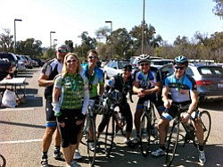 Promotional photo of participants from the previous St. Paddy's Palomar Punishment. Courtesy photo of Cycling Camp San Diego.