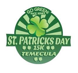 Promotional graphic for the Temecula St. Patrick's Day 15K on March 16th starting at 9am. Courtesy of Sandy Feet Events.
