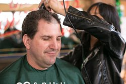 Promotional photo of a previous St. Baldrick's Shave-A-Thon. Courtesy photo of St. Baldrick's Foundation.