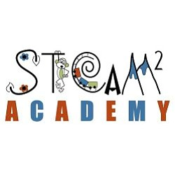 Graphic logo for STEAM 2 Academy.