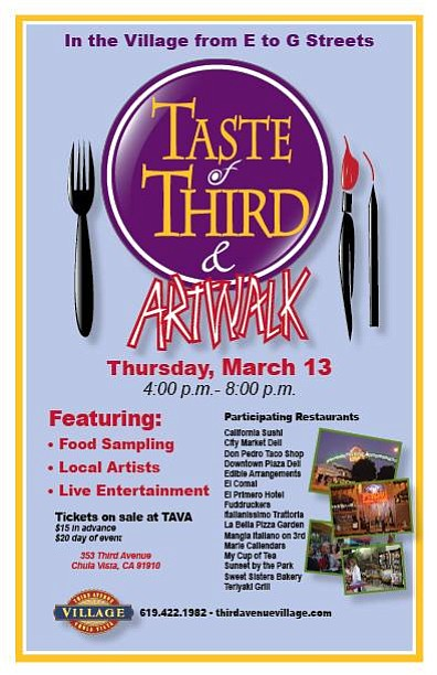 Promotional image for Taste of Third & Artwalk. Courtesy of Third Avenue Village Association.