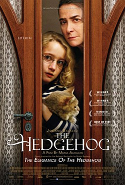 "Promotional movie poster for ""The Hedgehog"" playing at Mission Valley Library."