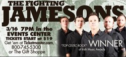 Promotional photo of The Fighting Jamesons performing at Harris Rincon Casino St Patrick's Day Weekend.