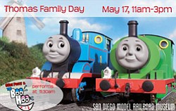 Promotional graphic for San Diego Railroad Museum's Thomas Family Day. Courtesy of San Diego Railroad Museum.