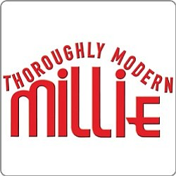 "Promotional graphic for ""Thoroughly Modern Millie"" playing weekends June 13-22, 2014."