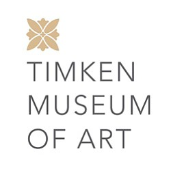 Graphic logo for Timken Museum of Art located in Balboa Park.