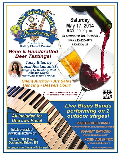 Promotional graphic for 19th Annual Wine Brews & Blues Festival.