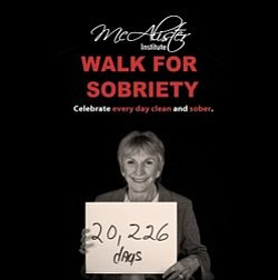Promotional graphic for the 3rd Annual 5K Walk For Sobriety. Courtesy of Mcalister Institute.