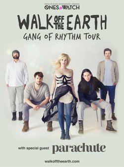 "Graphic flyer promoting Walk Off The Earth ""Gang Of Rhythm Tour"""