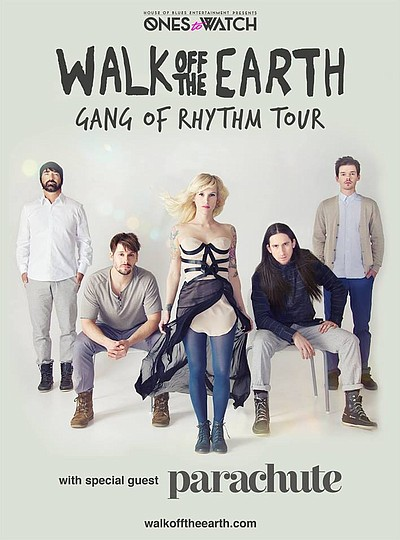 "Graphic flyer promoting Walk Off The Earth ""Gang Of Rhyth..."