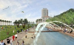 Promotional photo of the Waterfront Park located on Harbor Drive in Downtown San Diego. Courtesy of the County of San Diego Parks and Recreation.
