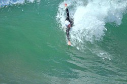 Promotional photo of body surfing. Courtesy photo of Del Mar BodySurfing Club.
