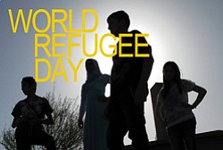 Promotional graphic for World Refugee Day in Balboa Park on June 21, 2014.