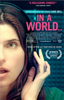 """Promotional image of """"In A World"""" playing at the Mission Valley Branch Library."""
