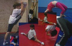 Photo collage of Yoga for Kids at Mission Valley Branch Library. Courtesy photo of Mission Valley Branch Library.