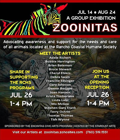 Promotional graphic for 'Zooinitas' 2014 exhibition.