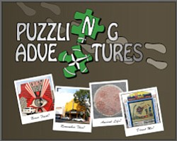 Promotional graphic for Puzzling Adventures.