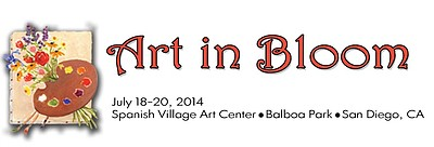 Promotional graphic for the 4th Annual Art in Bloom. Courtesy of Spanish Village Art Center.