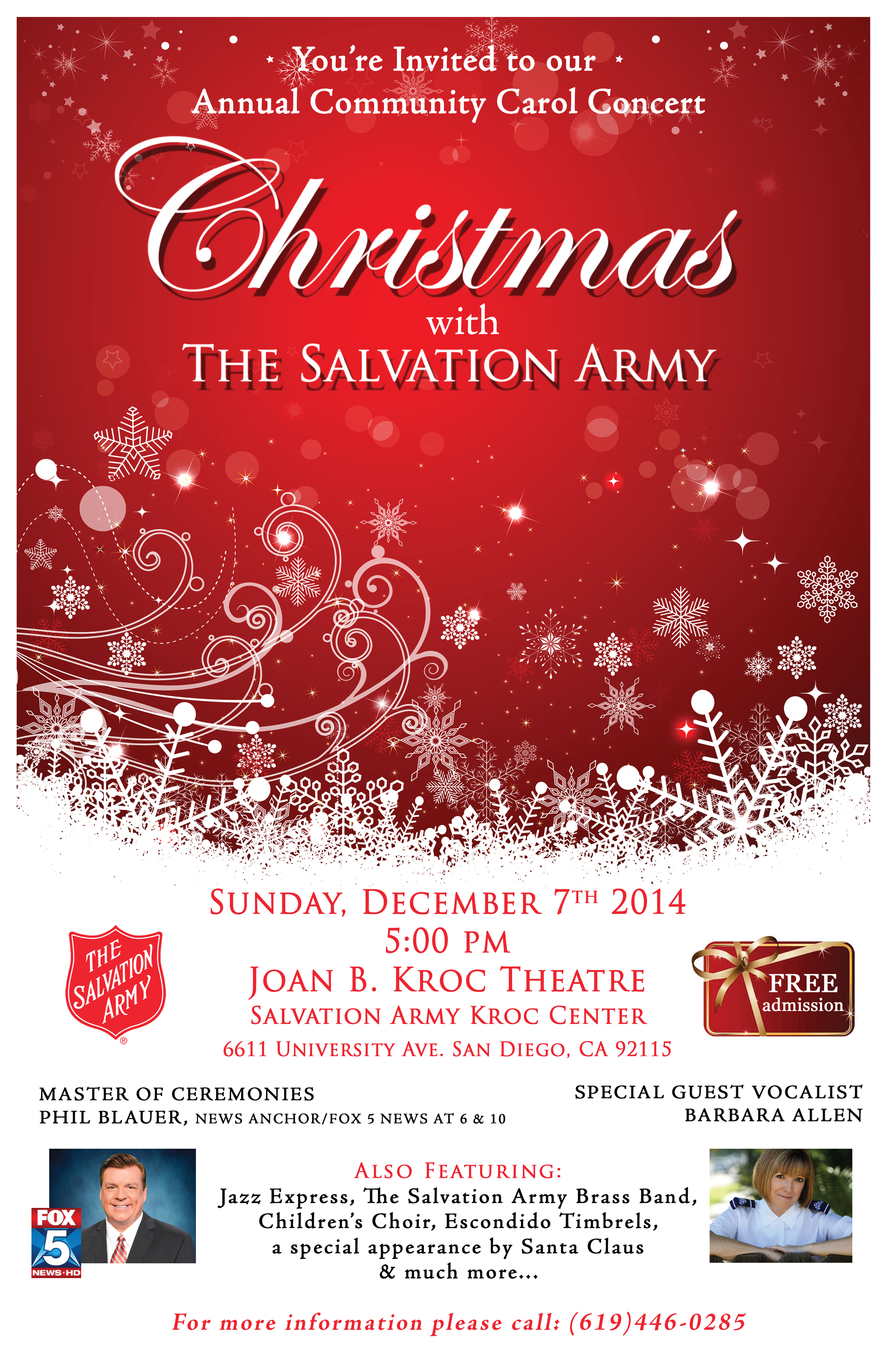 Christmas Concert With The Salvation Army - December 7 ...
