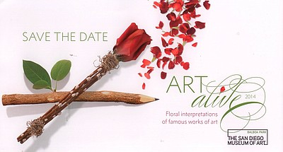 Art Alive is a variety of floral interpretations of famous work of arts. Save the date!