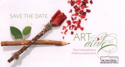 Art Alive is a variety of floral interpretations of famous works of arts. Save the date!
