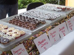 Promotional photo for the San Diego Botanic Garden's Mother's Day Chocolate Festival.
