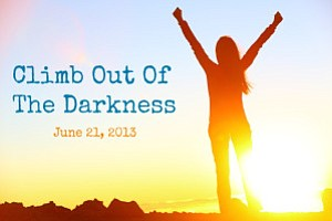 Graphic logo for The Climb Out of the Darkness™ event.