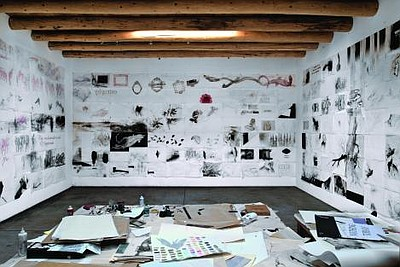 James Drake's Studio, 2014. Courtesy of the artist.