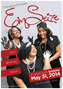 Promotional graphic for A Night With EmSeize at the Coronado Playhouse.