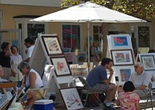 Promotional photo of COAL gallery's Art on the Green. Courtesy of Coal Gallery.
