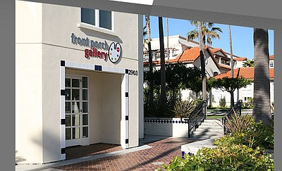 Exterior photo of Front Porch Gallery, located at 2903 Carlsbad Blvd., Carlsbad, CA 92008. Courtesy of Front Porch Gallery