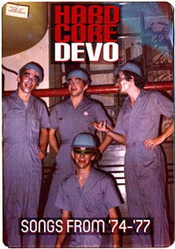 Promotional photo of group, Devo.
