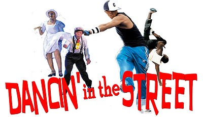 "Promotional graphic for ""Dancin' In The Street."" Courtesy..."
