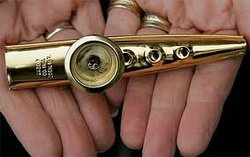 Graphic image of a kazoo. Courtesy of the UC San Diego Library.