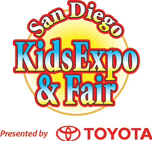 Promotional graphic for the San Diego Kids Expo & Fair.