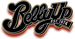 Graphic logo for the Belly Up Tavern in Solana Beach.