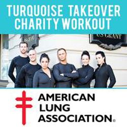 Graphic logo for The U.S. Grant Hotel's American Lung Association Charity Bootcamp.