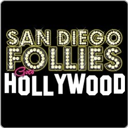 Promotional logo for San Diego Follies: Goes Hollywood.