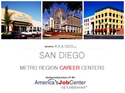 Promotional graphic for San Diego Metro Region Career Centers.