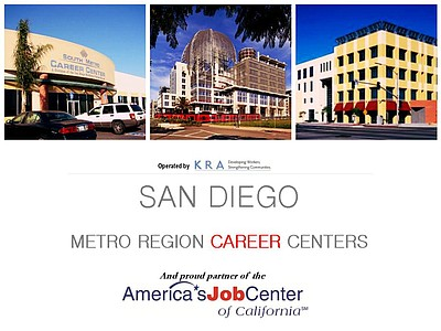 Promotional graphic for San Diego Metro Region Career Cen...