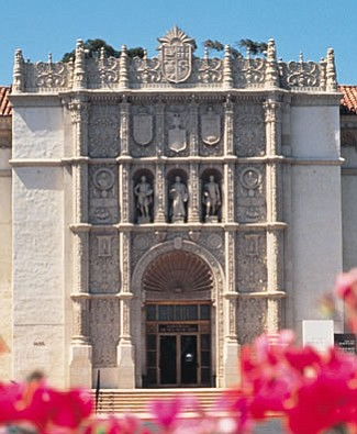 Exterior of The San Diego Museum of Art.