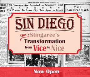 Promotional graphic of Stingaree, Stingaree District, red light district, waterfront, chinatown. Courtesy of the San Diego History Center.