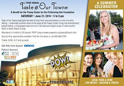 Promotional flyer for the 3rd Annual Taste of our Towne on June 21, 2014.