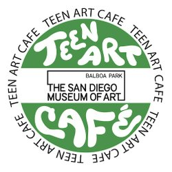 Graphic logo for the Teen Art Café at The San Diego Museum of Art.