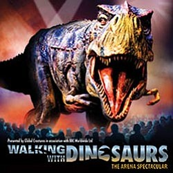 "Promotional graphic for Walking With Dinosaurs ""The Arena Spectacular"""