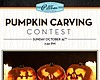 Promotional graphic for Pillbox Tavern's Pumpkin Carving Contest.