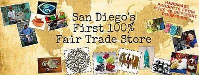 Promotional graphic for Fair Trade Décor in Del Mar.