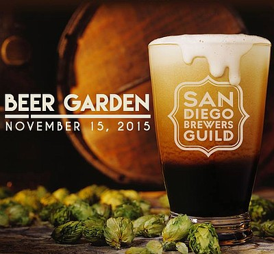 Promotional graphic for the Beer Garden at The Lodge At Torrey Pines, durring San Diego Beer Week 2015.